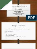 Integral Indefinida e Definida