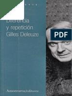 Gilles Deleuze. Diferencia y Repetición.