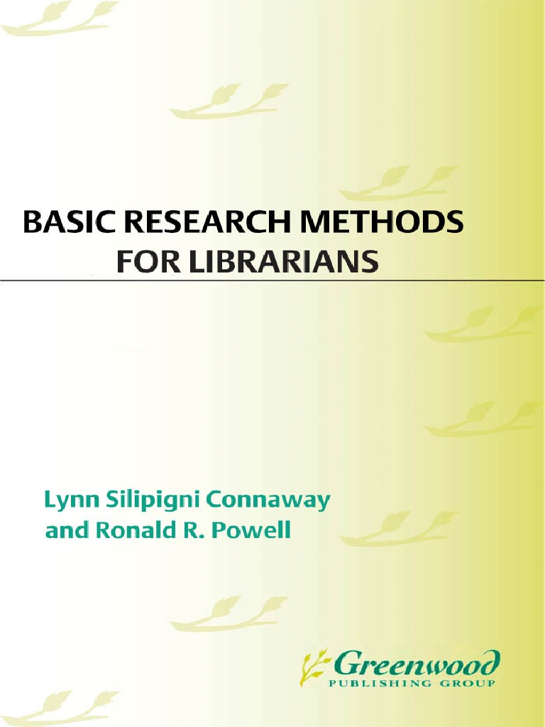 Basic research methods for librarians 5th edition 2010 qualitative basic research methods for librarians 5th edition 2010 qualitative research quantitative research fandeluxe Gallery
