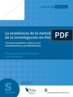 Sánchez Vazquez, M.J. (Coord) - La Enseñanza de La Metodología de La Investigación en Psicología.