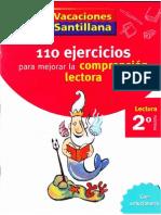 110 Ejercicios Para Mejorar La Comprension Lectora Santillana