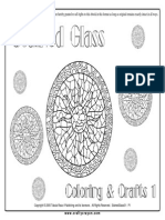 Free Stained Glass Coloring Crafts