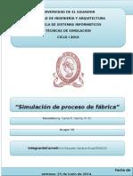 Simulación de un proceso de fabricación