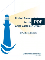 Critical Success Factors for Chief Customer Officers
