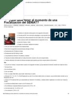 ¿Que Debe Tener Al Momento de Una Fiscalización Del SENIAT_