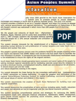 Peoples SAARC Declaration