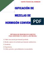 Dosificación de Hormigón Convencional