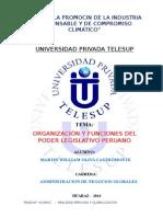 Tg - Organizacion y Funciones Del Poder Legislativo Peruano