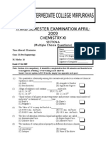 Chemistry XIthirdsemesterMCQs