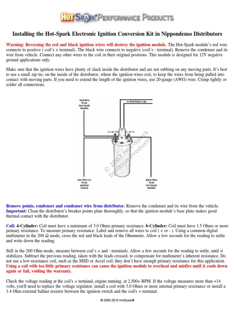 Installing Hot Spark Nippondenso | Ignition System | Distributor