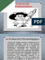 La Evaluación Psicopedagógica a.a.E.