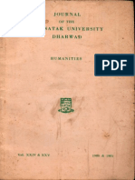 Journal of the Karnatak University Dharwad Humanities 24-25 1980, 1981