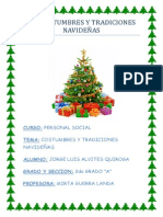 Las Costumbres y Tradiciones Navideñas