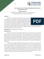 Accounting - Ijafmr - Interrelation Between Capital Structure - Gurmeet Singh