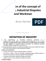 Industry Definition, Industrial Disputes and Workmen
