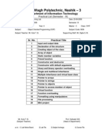 Practical List & Schedule - OOP SYIF (2008-2009)