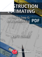 63015991 Construction Estimating a Step by Step Guide to a Successful Estimate