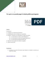 Por Qué No Se Puede Pagar La Deuda Pública Portuguesa