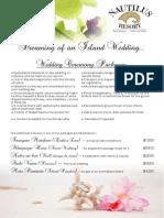Nautilus Resort Wedding Packages E-brochure 2014-2016
