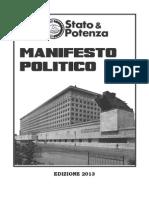 Manifesto politico Stato e PotenzaS