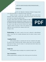 Study on Various Policies of Pepsi Toward Retailers