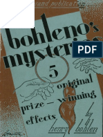 Bohleno's mysteries