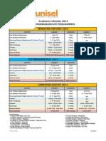 Academic Calendar 2014 for Undergraduate as at 15 Nov 2013