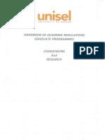 Academic Regulations Handbook Graduate Programmes Coursework and Research 2014