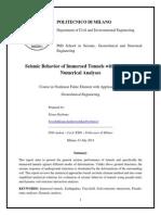 Seismic Behavior of Immersed Tunnels