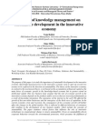 Impact of Knowledge Management on Sustainable Development