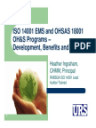 July 2013 - Iso 14001 Ems & Osha's 18001 Oh&s Program Slides