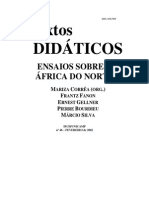 Livro - Textos Didáticos-Ensaios Sobre a África Do Norte - Fanon, Gellner, Bourdieu, Silva