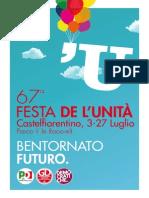 Libretto Festa Unità Castelfiorentino