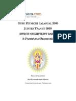 Jupiter Transit 2009 Report-Parihara