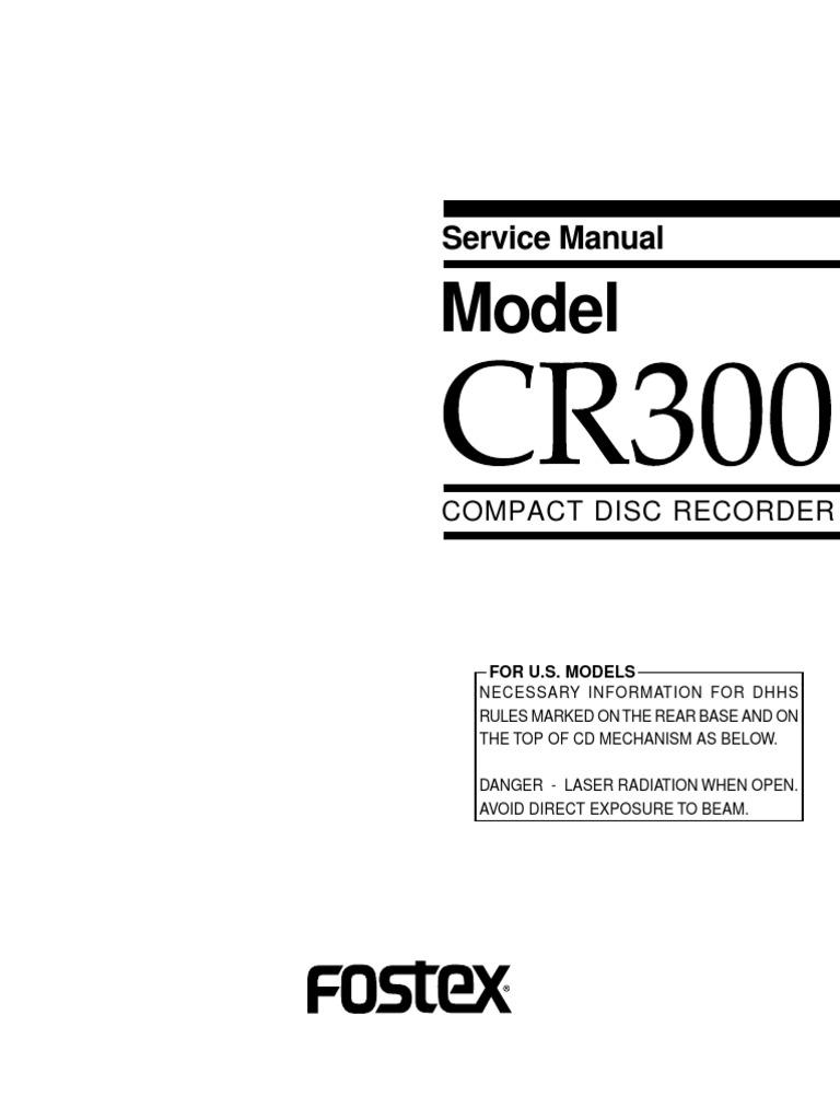 ... Array - fostex cr300 service manual decibel signal to noise ratio rh  scribd ...