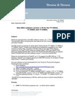 Service Note F77!55!33 - Release Ver_1 70_Rev_A