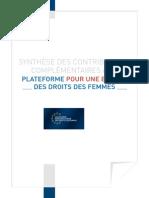 Plateforme Pour Europe Droits Des Femmes Synthese M3