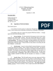 Letter Opposing Wall Street Bail Out Bill