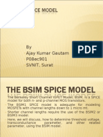 THE BSIM SPICE MODEL