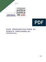 Diez Propuestas Para El Debate Presidencial