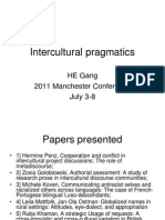 Intercultural Pragmatics - HE Gang Report on 2011 Manchester Conference