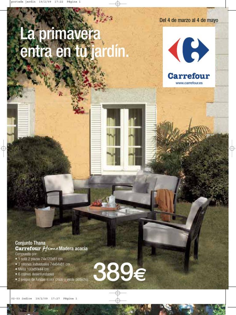 Folleto Carrefour Jardines