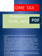 Income Tax Problems