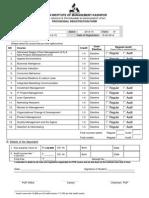 Registration Form -Term-IV Pgp 2013-15