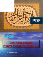 LES OPERATIONS D'INTREVENTION URBAINE