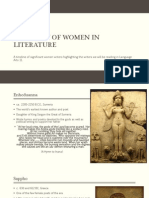 a history of women in literature