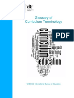 IBE Curriculum Terminology Glossary