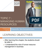 Topic 7 Managing Human Resources