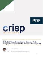 IBMs ICS Transformation in die neue Welt – eine große Aufgabe für Dr. Thomas Zeizel (IBM)