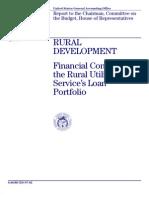 GAO Report - Rural Development Financial Condition of the Rural Utilities Service Portfolio April 1997